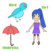 BUG (Bird, Umbrella, Girl)