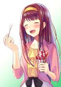 美味しそうアイスを食べる琴葉ちゃん