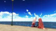 青い空の向こうに