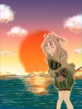瑞鳳と夕日と