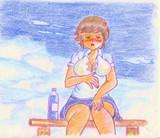 のすじいの色鉛筆戯れ絵・・夏が来る・・