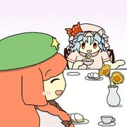 お嬢様と美鈴のお茶会