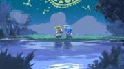 湖は浄めの月光を映して