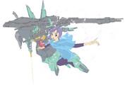 ROBOT魂ディジェの前でフォウのコスプレしてOPみたいに飛ぶTomomintさん.jpg
