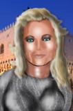 シェリー・J・ウィルソンの49歳頃の似顔絵イラスト