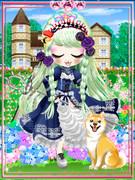 私、今度も水色の姿てくんくんと一緒にアンニュ~イ咲く洋館アリスの薔薇園~