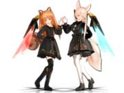 【MMD】黒衣装ADユノアさん・リーアさん_(1440 x 1080)