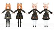 【MMD】黒衣装ユノア・リーア更新_(1920 x 1080)