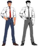 【フリー素材】体育会系なスーツの男性