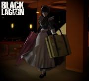 【MMDブラック・ラグーン】ロベルタ用スーツケース【アクセサリ配布】