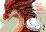 ドラゴンがスライムをスパルタ教育…