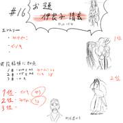 生放送にて10分即描きバトルお題「伊良子清玄」