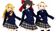 【MMD】赤・青・黒