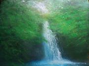 木陰の滝壺