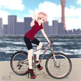ウチのテトさんと自転車