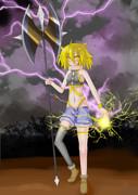 雷を操る少女