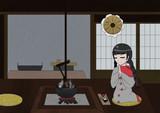 成美 - 自宅にて