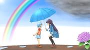 雨上がりの出会い