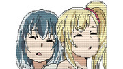 コメントでヒナとアンズを描いてみた