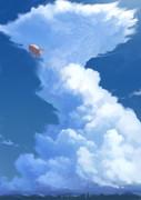 雲と飛行船