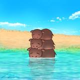 水浴びヒポポ