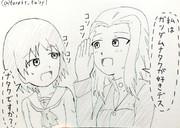 桂利奈ちゃんとのガンダムトークに熱が入るクラーラさんです!