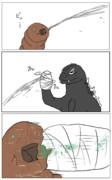 モスラの糸を克服したゴジラ