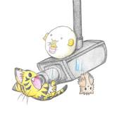 監視カメラでくつろぐ獣達