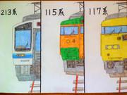 山陽本線で活躍している国鉄型近郊電車