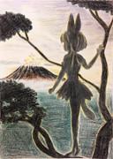 サバンナに日が昇り 私は一人で木に登る