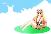 夏の雲、リサとイーブイ