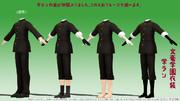 文豪学園用お着替え衣装・男子学生服(学ラン)