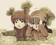 福田とニーナの偵察部隊