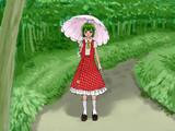 林の入り口に立つ幽香さん