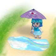 小傘と水たまり