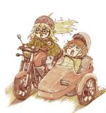 星井美希と萩原雪歩のサイドカー
