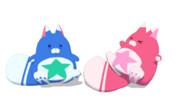 【MMD白猫】星たぬき【モデル配布】