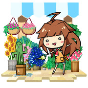 くまのお花屋さんだくまー!