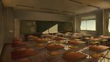 教室 夕暮れ