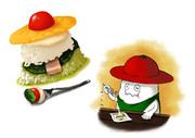 モッツァレーラのバジル&チーズリゾット