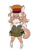 日本軍服を着せたニホンオオカミさん