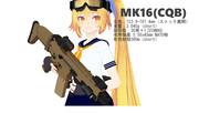【MMD】MMD銃器紹介 No.2「MK16(CQB)」