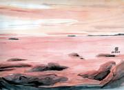 模写「ゆうぐれ海」