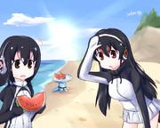 夏のフルルとジェーン