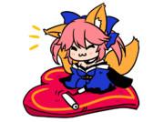 コロコロするキャス狐