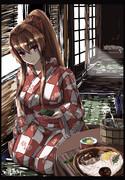 浴衣の大和さんが素麺と柿の葉寿司作ってくれる人生