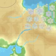 【CitiesSkylines】六角形の区画だけで街をつくる_Ep10時点MAP