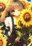 大輪の花畑