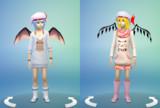 ★東方Sims4★レミリア&フランの可愛らしい服装