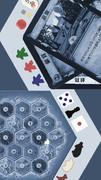 【スマホ壁紙】ボードゲーム(低彩度青写真調)